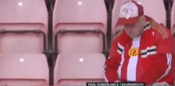 Sunderland fan gråter